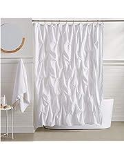 AmazonBasics Pinch Pleat Shower Curtain - White