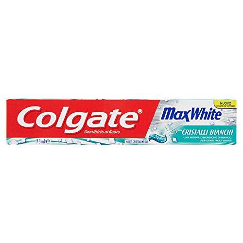 Colgate - Pasta de dientes MaxWhite, Funciona con Micro cristales Bianchi - 75 ml paquete de 12]