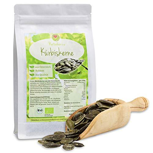 Naturherz Bio Kürbiskerne vom Bio-Bauernhof in der Steiermark 1kg (1000 g)