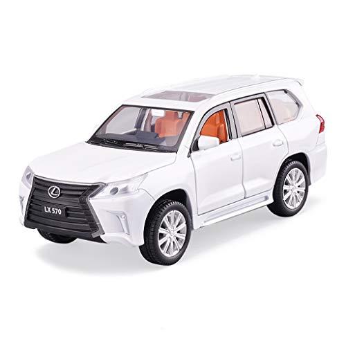 EETYRSD - Modello Auto in Lega di Simulazione Modello di Veicolo Fuori Strada in Metallo Giocattolo, Ornamenti, Collezione 17 x 6,5 x 6 cm Bianco