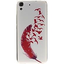 case cover para Huawei Honor 4A / Huawei Y6,Crisant Pimiento rojo Diseño Protección suave TPU Gel silicona Teléfono Celular Back funda Carcasa para Huawei Honor 4A / Huawei Y6