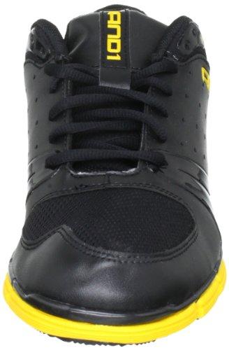 AND1 ULTRA LYTE LOW 1001201076 Unisex - Erwachsene Sportschuhe - Basketball Schwarz (Black/Black/Gold)