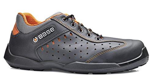 Base BO628 Rugby S1P SRC Mens Datensatz rutschfeste geschnürt Safety Shoe Schwarz