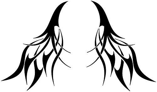Motiv 2405_47 - 40 x 24 cm (2 Stck) Aufkleber für Motorhaube oder Heckscheibe - Autodekor Autoaufkleber Car Tattoo Auto Tribal schwarz