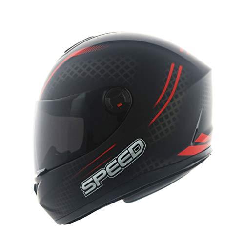 Qianliuk 966 Anti-Fog Motorrad Helm Männer Frauen Motorbike Motorcross Helme Full Face Black Lens Helme Sub Black 57-64cm (Helm Full Face Motorrad Black)