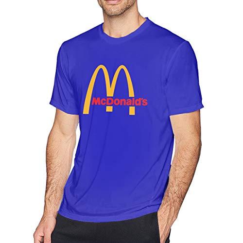 t McDonalds Logo T-Shirt Freizeithemden Für Herren Big Boys Kurzarm Rundhals Baumwolle Sport Tops Blau 5XL ()
