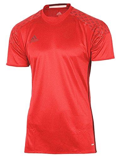 adidas Herren Shirt Goalkeeper Jersey Torwart Trikot Adizero (rot-schwarz, 7 (52) M/L) - Torwart Trikot Kurzarm