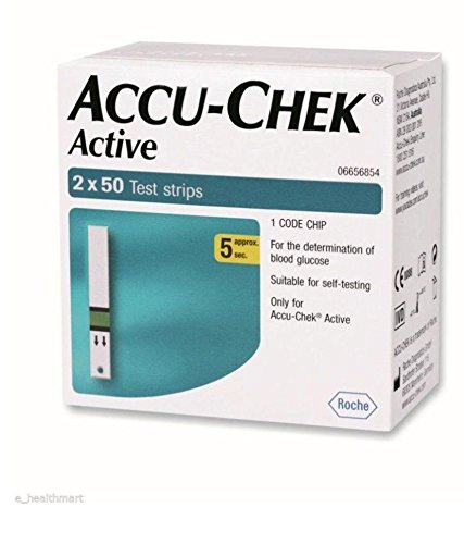 Accu-Chek Active 100 Test Strips  available at amazon for Rs.1406