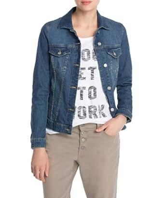 Esprit - Blouson - Manches Longues Femme - Bleu - Blau (E Weekend Blue) - FR : 44 (Taille Fabricant : XL) (Brand size : Herstellergröße : XL)