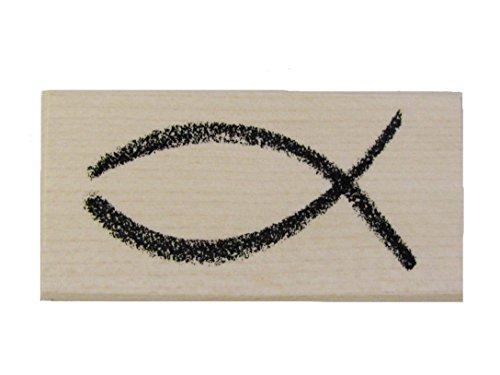 Stempel Fisch, Kirchliches Motiv zur Taufe Kommunion, Firmung, Hochzeit und mehr