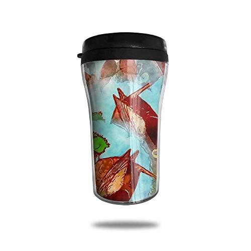 BagsPillow Red Fat Fish Travel Coffee Mug -