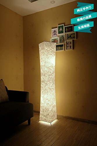 LEONC Kreative Stehleuchte LOUNGE DESIGN STEHLAMPE Bodenlampe Wohnzimmerlamp & 2 Glühbirne 154 x 26cm,Beste Weihnachtsgeschenke (Leinengewebe Stil-3)