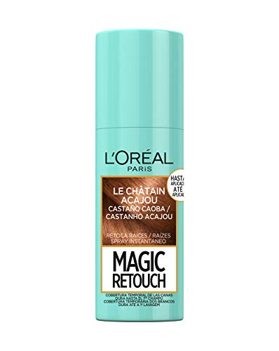 L'Oréal Paris Magic Retouch Spray Retoca Raices y Canas para Pelo Negro - 75 ml