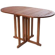 benelando plegable mesa de jardn de madera de eucalipto