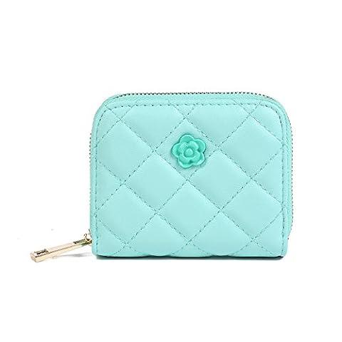Damara Womens Camellia Adorned Sewing Card Case,Green