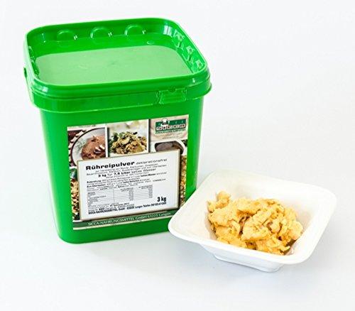 """""""Rühreipulver natur – deklarationsfrei"""" SICCA Rührei natur ist eine homogene, hellgelbe Pulvermischung mit einer natürlichen Note zur Herstellung von einem vollwertigen und wohlschmeckenden Rührei, Eierkuchen, Omeletten, Bauernfrühstück, Eierstich, Suppeneinlagen und zum Überbacken. Druckdeckeldose 600 gr."""
