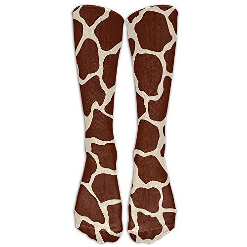 Rundafuwu Womens Giraffe Printed Socken Over Knee High Boots Girls Long Sockens 50CM