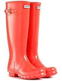 hunter boots tall gloss flame