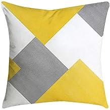 VJGOAL Moda Casual Funda de Almohada de impresión Amarilla decoración del hogar Cubierta del Amortiguador Cuadrado