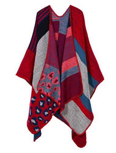 MatchLife Femme Automne longue écharpe Wrap Shawl Art6