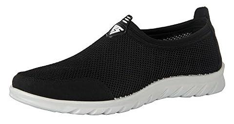 iLoveSIA Men's Lightweight Mesh Shoes Black UK size 9.5