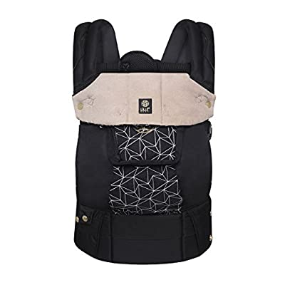 LÍLLÉbaby  Complete Embossed 6-in-1 Baby Carrier, Black Diamond Luxe