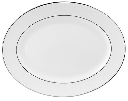 Lenox China (Lenox Hannah Platinum 13-Inch Bone China Oval Platter by Lenox)