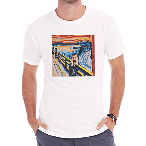Munch Scream Dennis Mccann Man Herren T-Shirt Weiß