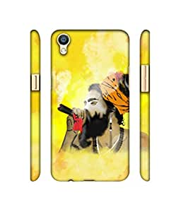 NattyCase Aghori Design 3D Printed Hard Back Case Cover for Oppo R9s Plus