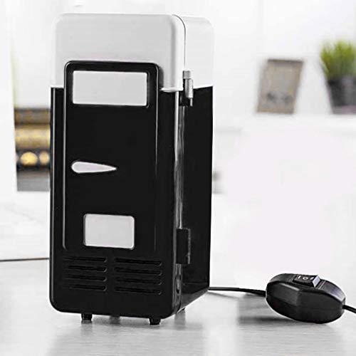 TianranRT Mini USB Kühlschränke tragbar Getränke Getränke Dosen Kühler Kühlung (Schwarz) (Kühlschrank Taschenlampe)