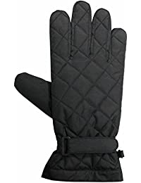 Unisex Black Thinsulate Polyester Gloves by Easy Off Gloves