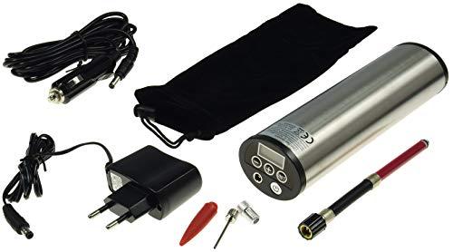 ChiliTec 21329 Hochleistungs Luftpumpe mit LiIon Akku Display, Druckeinstellung, KFZ-Adapter