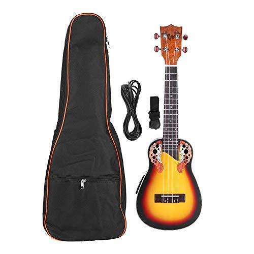 Preisvergleich Produktbild RiToEasysports Ukulele-Gitarre Ukulele Hawaiian Guitar Ukulele-Gitarre für Kinder Tragbare,  langlebige 24-Zoll-EQ-Konzert-Ukulele mit Gurt für Aufbewahrungstasche Audiokabel