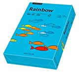 Papyrus 88042747 Drucker-/Kopierpapier farbig, Bastelpapier: Rainbow 160 g/m², A4, 250 Blatt Buntpapier, matt, blau