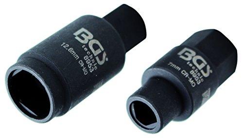 Preisvergleich Produktbild BGS 3-Kant-Einsätze für Bosch Einspritzpumpen, 7 und 12,6 mm, 2 Stück, 8953