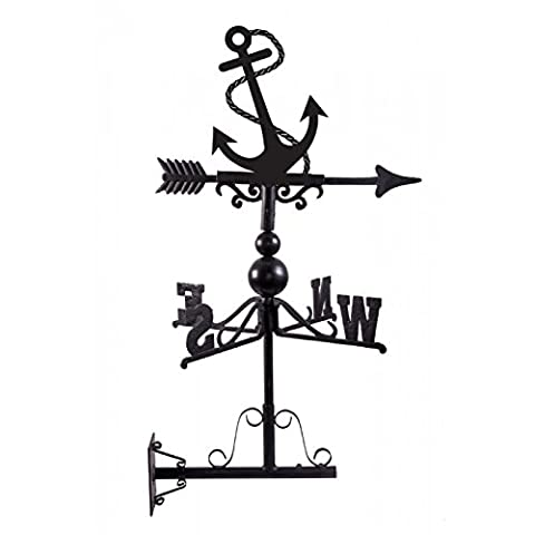 Anchor Weathervane - Hand Made in Cast Iron and Steel - Bracket Included