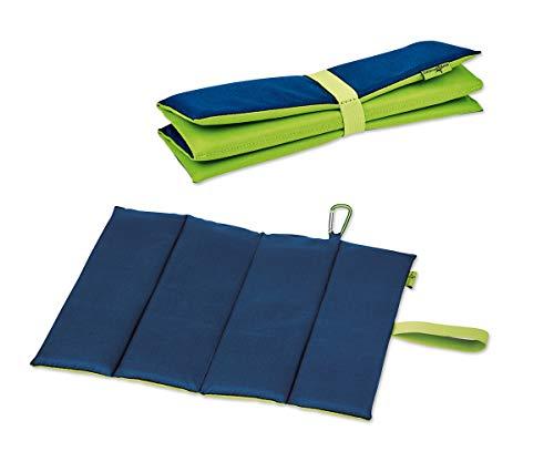 moses. Sitzmatte Expedition Natur - Blau Grün   Faltbares Sitzkissen für Outdoor, Camping und Wandern