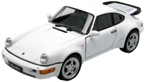 Welly PORSCHE 911 TURBO Car model 1:24 - Modelos de juguetes (Car model, 1:24, Blanco, 3 año(s), Caja con ventana)