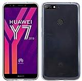 cofi1453 Silikon Hülle Tasche Case Zubehör kompatibel mit Huawei Y7 2018 Gummi Bumper Schale Schutzhülle Zubehör in Transparent