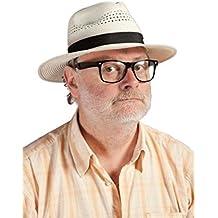 8b2df928735cf P  Tit Payaso 11211 Sombrero Panama con Cinta – Adulto – Negro Beige