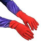 Mimagogo Haushalt Küche Dish Washing Handschuhe Lange Dicke Plus Velvet Gummihandschuhe