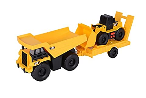 Toy State Light and Sound CAT Truck N' Trailer Dump Pulling Wheel Loader Vehicle