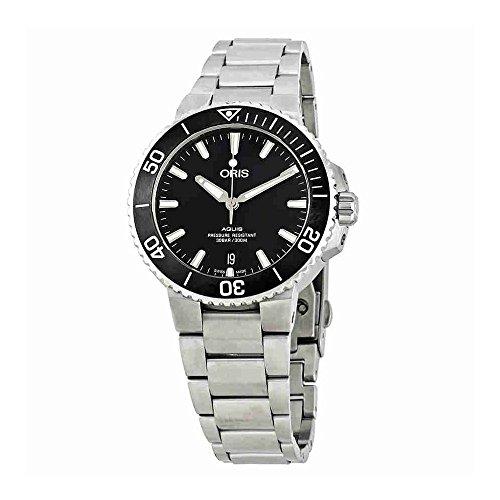 Oris Aquis automatico nero quadrante mens orologio in acciaio INOX 0173377324124–0782105EB