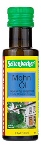 Seitenbacher Bio Mohn Öl rein nativ, kaltgepresst/1. Pressung, 1er Pack (1 x 100 ml) - Mohn-Öl