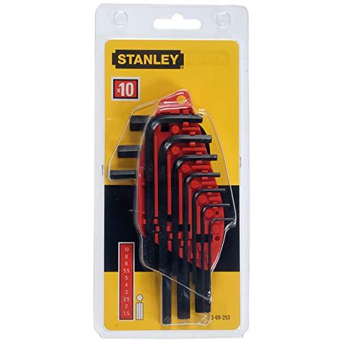 Stanley 0 69 253 Jeu de 10 clés mâles 1,5 à 10 mm (Import Grande Bretagne)