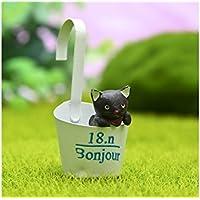 XeibD Miniatur Micro Landschaft Ornamente hängen Tasse Katze DIY Garten Dekor Home Pflanze Geschenk (weiße Tasse)