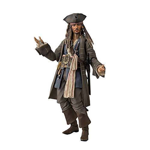 Adult Jack Captain Kostüm Sparrow - Adult Toys - Fluch der Karibik 5 Tote ohne Beweis Jack Captain Sparrows Gelenke können praktische Puppen Sein