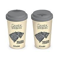 """مج قهوة/شاي خزفي رسمي """"جيم أوف ثرونز (هاوس ستارك)"""" من بيراميد إنترناشونال ، متعدد الألوان ، 340 مل ، MGT22867"""
