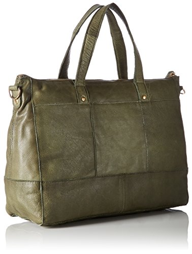 PIECES - Pcnara Leather Bag, Borsette da polso Donna Verde (Dark Olive)