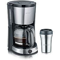 Severin KA 9476 - Cafetera con vaso termo de acero inoxidable, 1000 W, color negro y gris